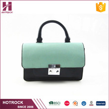 Good supplier high class brand handbags pu leather sling crossbody ladies shoulder bag