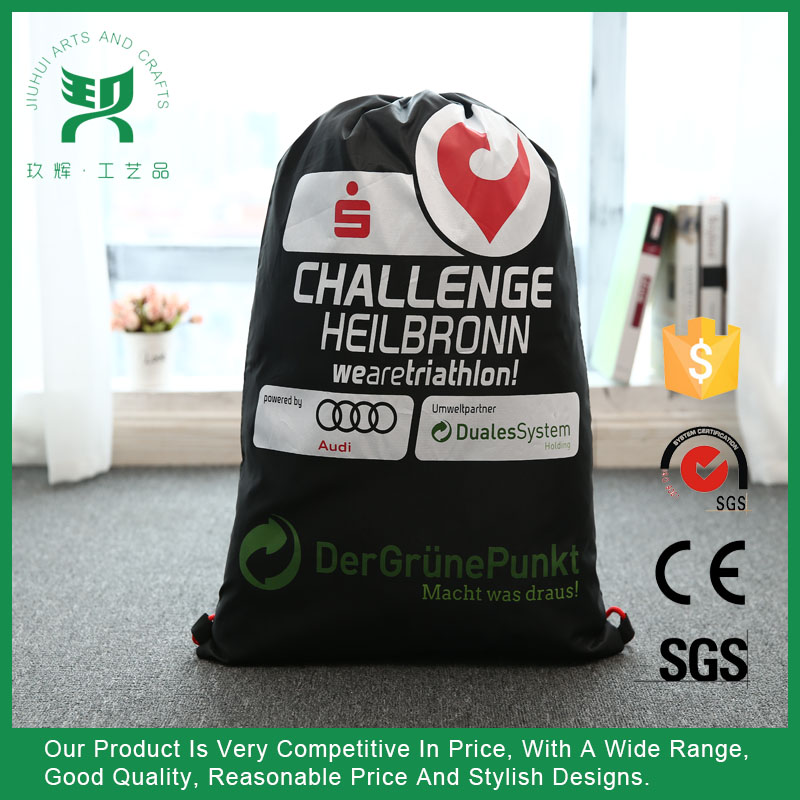 Manufacturers Cotton linen vinyl drawstring bag