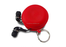 Portable earbud case keychain,earphone bag
