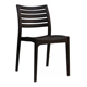 High Quality Modern Design Outdoor Plastic Chair, Black PP Plastic Garden Chair