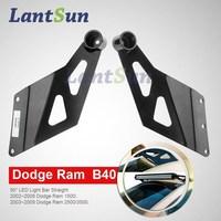 2015 Car accessories led bar lighting bracket/light bar mounting brackets for Dodge Ram