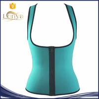 Fashion quality strong effect waist trainer zipper corset neoprene shapewear girdle