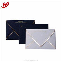 Chinese Suppliers Custom Printed Wholesale Luxury A7 Wedding Luxury Invitation Fancy Gift Paper Envelope With Gold Line