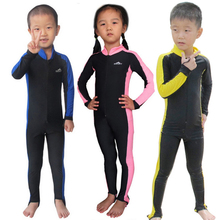 Sbart Children's lycra one piece swimsuit upf50+ breathable wetsuit quick dry surf suit free divng suit