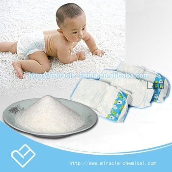 Super absorbent polymer for baby diapers