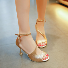 HFCS092 Summer newest style roman peep-toe high heel shoes women sandals