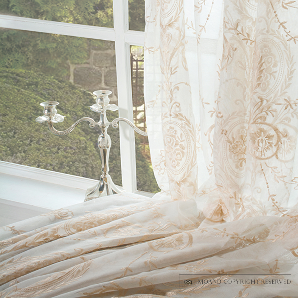 Latest Design Classic Style Curtain Luxury Sheer Curtains