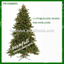 7.5ft Mixed artificial Christmas tree with pine cone PE1200007L