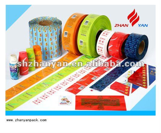 Shrink label film for sleeve label machine
