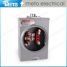 METO-125A-4J-R Series Ring Type Rectangle Electrical Single Phase Energy Meter Box