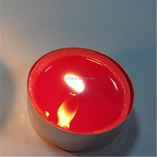 Long burning time unscented cheap red tealight candle