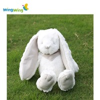 High quality custom grey bunny soft toys plush rabbit baby toy