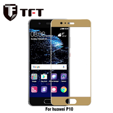 Factory price. High Quality Clear 3D Curved full cover color Tempered Glass Screen Protector For Huawei P10