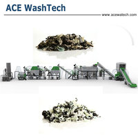 High quality hot sale PE Mulching film washing line / PP Woven Plastic bags washing machine