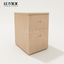 Newest design wood pedestal 3 drawer filing cabinet