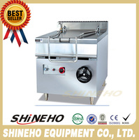 W008 high quality machine Stainless Steel Gas Tilting Braising Pan for sale