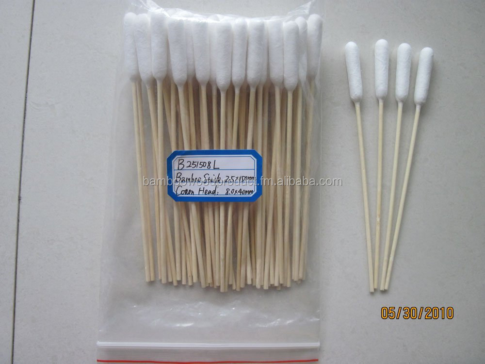 Bamboo Stick Cotton Buds / Swabs /Cotton-tipped Applicators for pets