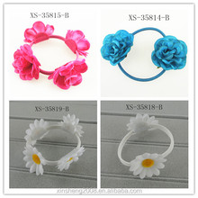 Charming dyeing flower pony tail.girls hair accessories
