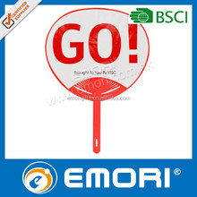 Hot selling launch in china small decoration cooling plastic pp hand fan