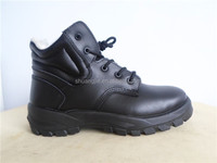 cotton-padded light surface buffalo leather steel toe safety shoes safety work boots for workers
