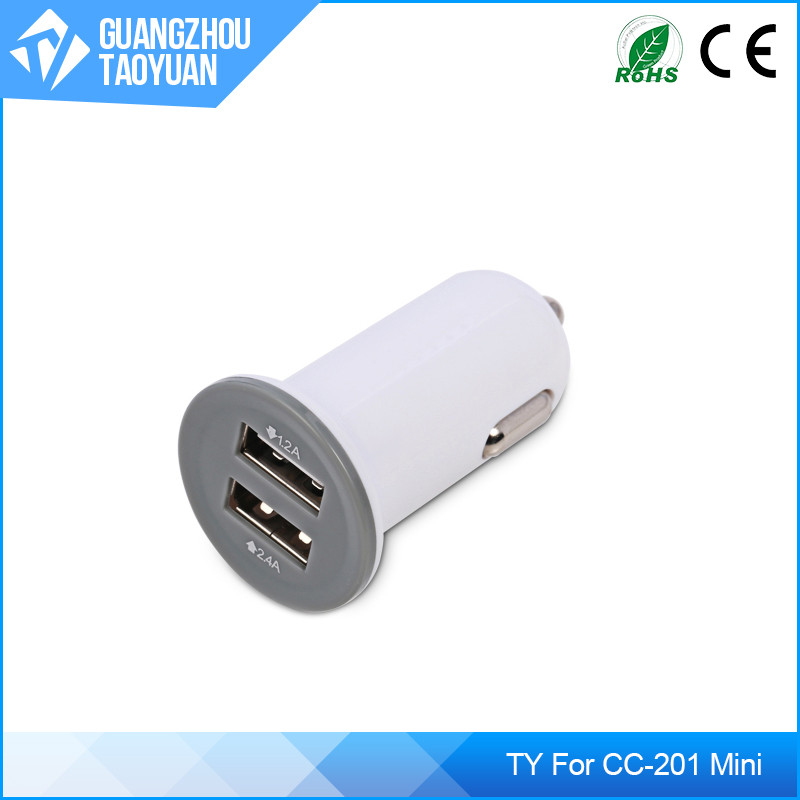 Guangzhou Mobile phone Accessories Market For Mini Car Battery Charger,ODM Type C QC 3.0 For Mini Car USB Charger