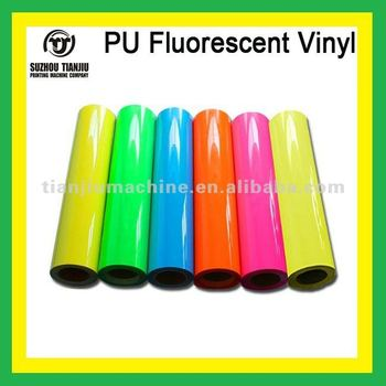 Heat transfer PU Fluorescent Vinyl for t shirts