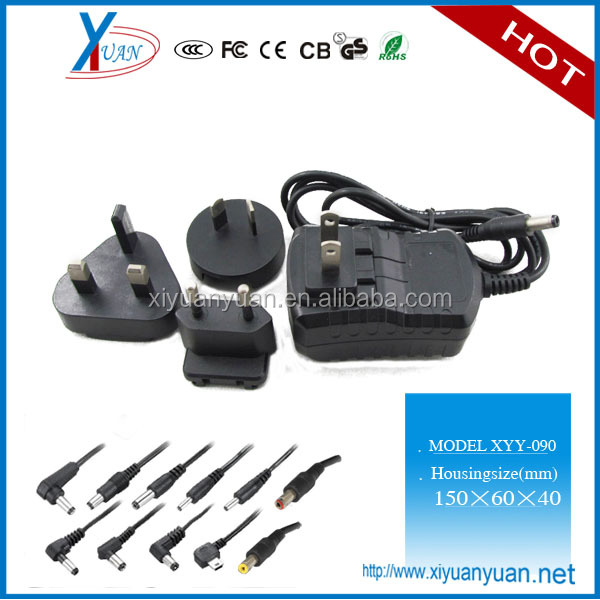 Sturdy construction power supply 12v 1a ac dc power adapter wall mounted for UK US AU EU JP KR