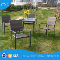 Simply Square Dining Table 5 pc Outdoor Dining Table Set SO5015