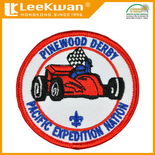 Custom pinewood derby Applique Embroidery patch
