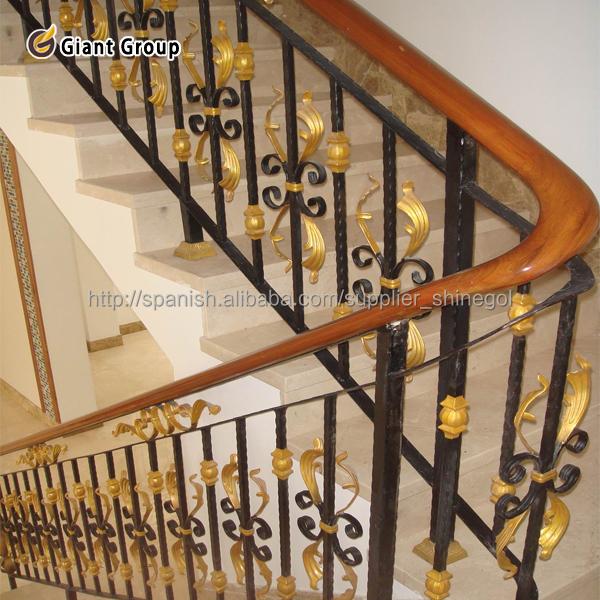 Pasamano chulo de hierro para la casa pasamano de escarela - Pasamanos de hierro forjado para escaleras ...