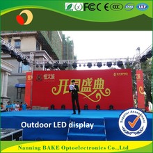 P6 outdoor rental light weight waterproof IP65 led display led tv cabinet