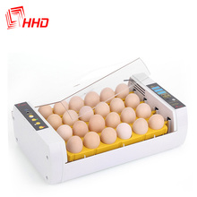 Howard 98% Hatching rate Factory price Full automatic chicken egg incubator/hatching canary bird eggs Model YZ-24A