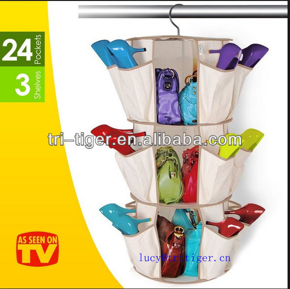 2014 As Seen On TV circle shoe rack