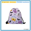 Custom 210D polyester colorful cute drawstring bag / backpack