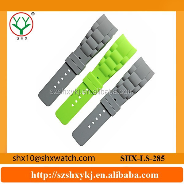 High Quality Changeable Interchangeable Custom Rubber Silicone Watch Straps