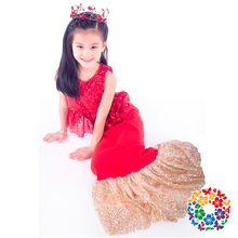 Baby Girls Mermaid Clothing Sets Red Sequin Mermaid Evening Dresses Girls Mermaid Tail For Swimming Wholesale Price