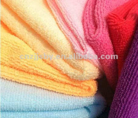 Warp knitting household kitchen cleaning microfibre cloth
