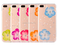 Amazing dry flower case soft cover for iPhone 8 8 Plus, fancy cover for iPhone 7