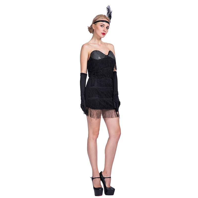 Flapper Ladies 20S 1920S Fancy Dress Women Great Gatsby Adult Lady sex Costume