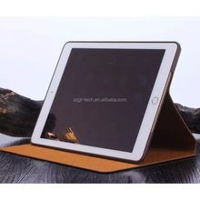 Brown luxury Leather Flip Case for New iPad Air 2 Stand Suede Cover