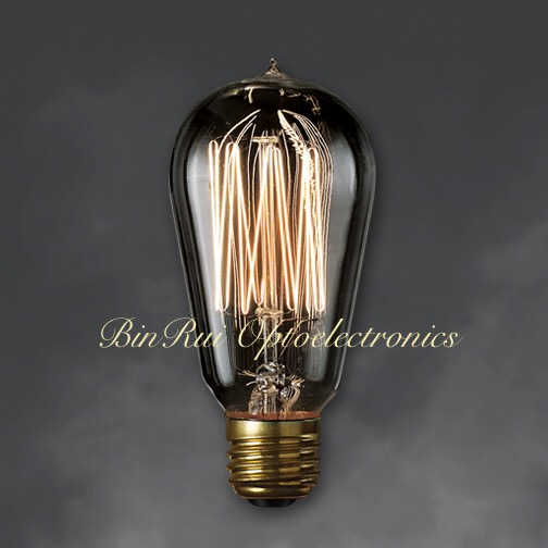 2015 creative style for decorate the cafe, restaurants, bar SMOKE GREY GLASS ST18 smoke antique vintage Edison light bulb