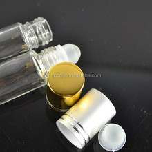 10ml clear glass roller on bottle with silver cap, refillable 10ml perfume roll on bottle