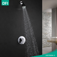 DFI single lever plastic shower head set with shower valves