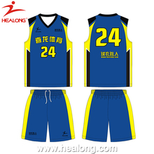 Healong OEM Fashion European Basketball Design Jersey