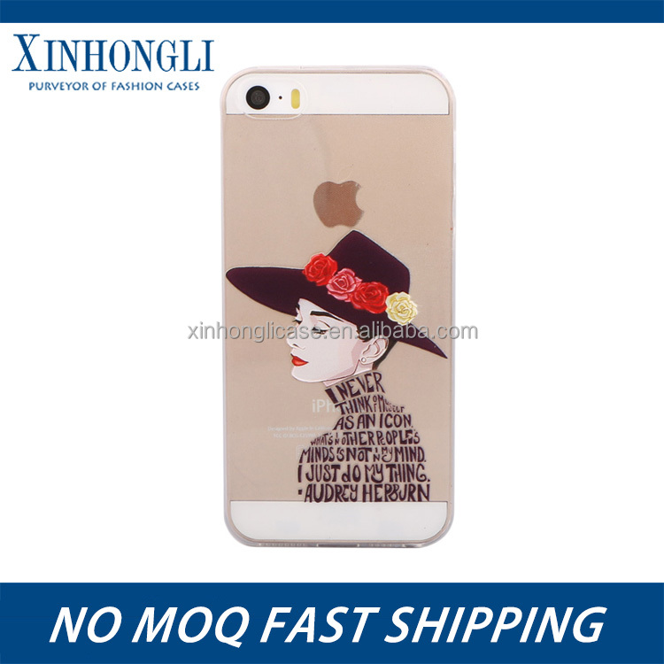Popular Promotional color TPU printed phone case for iphone for iPhone 5