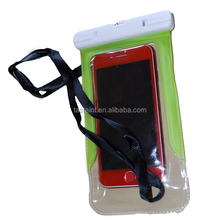 China supplier very cheap multi color pvc waterproof cell phone bag for swimming and diving