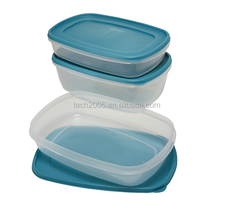 plastic air tight food container set plastic food storage containers 6pcs with lid
