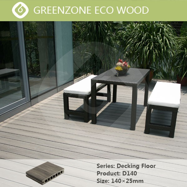 outdoor or indoor public place new tech waterproof wood plastic composite skiring board