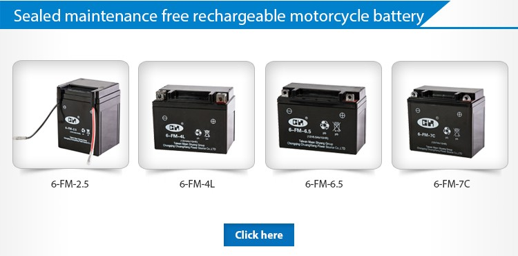 12V 4Ah Sealed Maintenance Free 100CC Motorcycle Battery For Honda Spare Parts