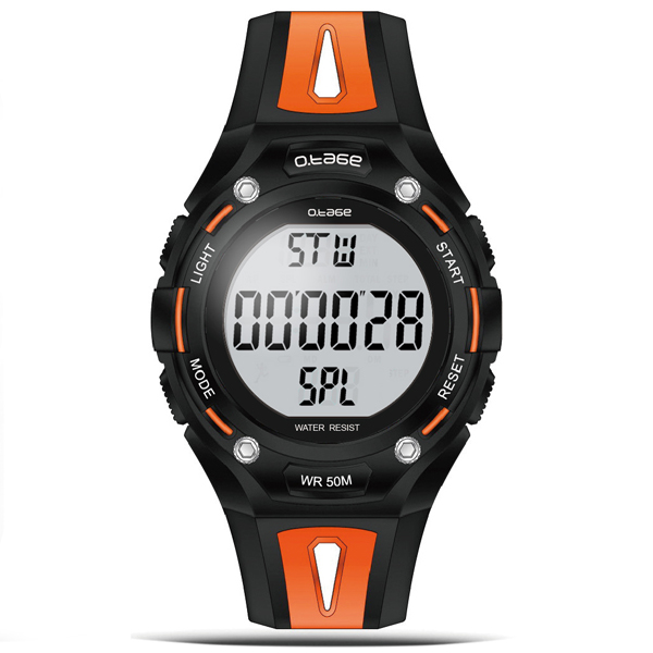 New Design Waterproof Multi-function Pedometer Watch Mens Ladies